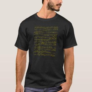 Yellow sheet music (Beethoven piano sonata) T-Shirt