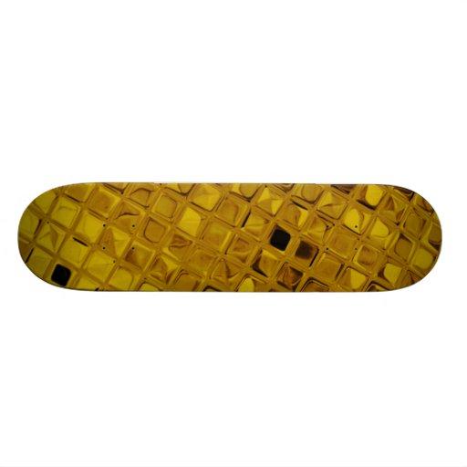Yellow Shiny Diamonds Sissy Girly Girl Skateboard
