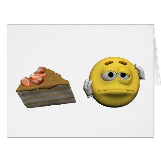Yellow sick emoticon or smiley card