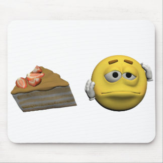 Yellow sick emoticon or smiley mouse pad