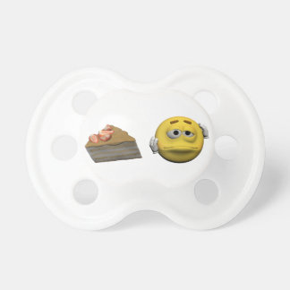 Yellow sick emoticon or smiley pacifier