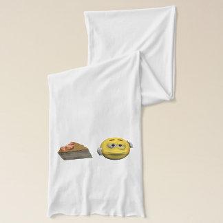 Yellow sick emoticon or smiley scarf