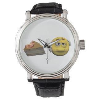 Yellow sick emoticon or smiley watch