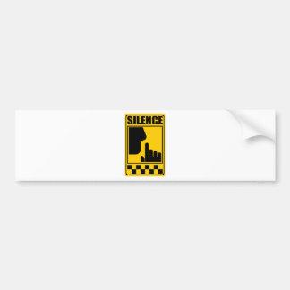 Yellow Silence Sign Bumper Sticker