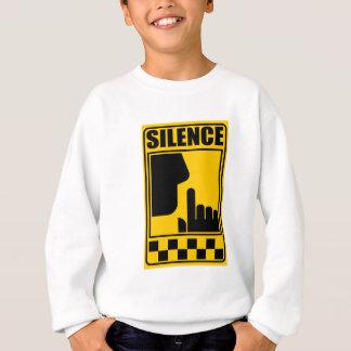 Yellow Silence Sign Sweatshirt