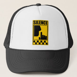 Yellow Silence Sign Trucker Hat