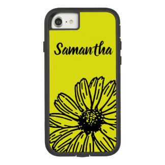 Yellow Simple Bright Fun Daisy Personalize Case-Mate Tough Extreme iPhone 8/7 Case