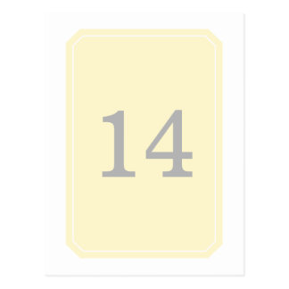 Yellow Simply Elegant Table Number Postcard