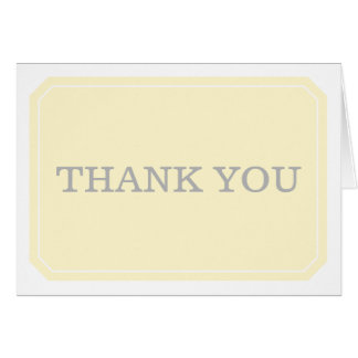 Yellow Simply Elegant Thank You Card
