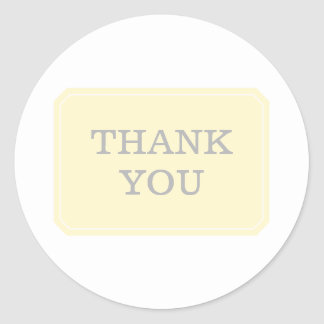 Yellow Simply Elegant Thank You Stickers