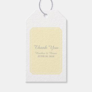 Yellow Simply Elegant Wedding Gift Tags