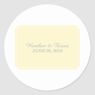 Yellow Simply Elegant Wedding Stickers