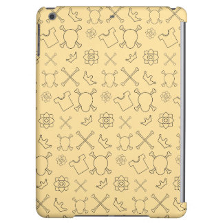 Yellow Skull and Bones pattern Cover For iPad Air
