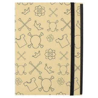 "Yellow Skull and Bones pattern iPad Pro 12.9"" Case"