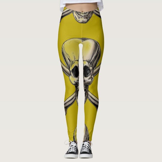 YELLOW SKULL LEGGINGS
