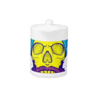 Yellow Skull Smoking Pipe.