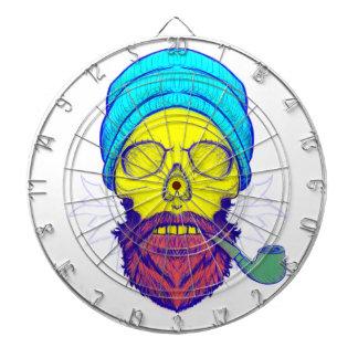 Yellow Skull Smoking Pipe. Dartboard