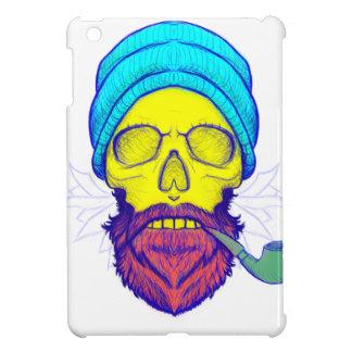 Yellow Skull Smoking Pipe. iPad Mini Cases