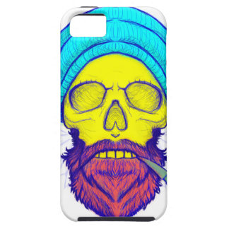 Yellow Skull Smoking Pipe. iPhone 5 Cases