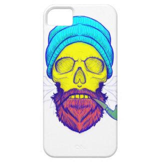 Yellow Skull Smoking Pipe. iPhone 5 Covers