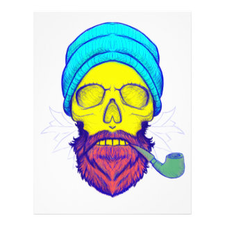 Yellow Skull Smoking Pipe. Letterhead
