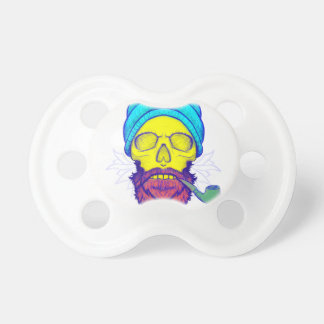 Yellow Skull Smoking Pipe. Pacifiers