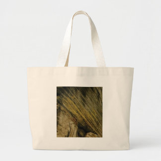 yellow slashes in the rock large tote bag