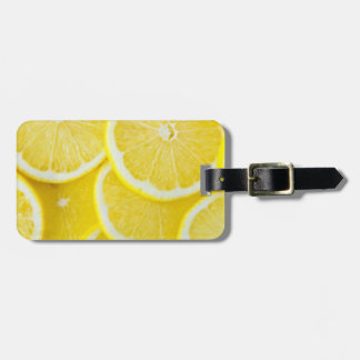 Yellow Slice Lemons Luggage Tag