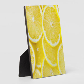 Yellow Slice Lemons Plaque