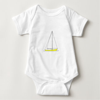 Yellow Sloop Sailing Logo Baby Bodysuit