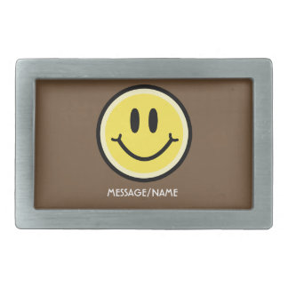 Yellow Smile Belt Buckle