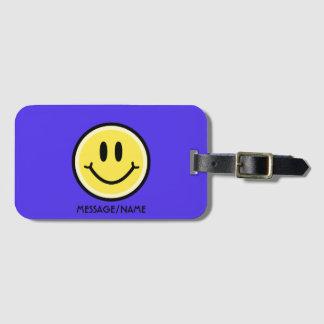 Yellow Smile Luggage Tag