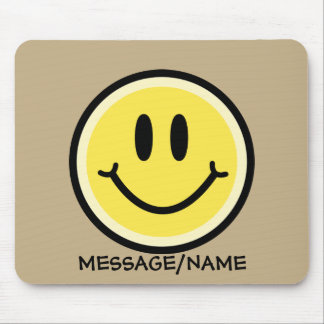 Yellow Smile Mouse Pad