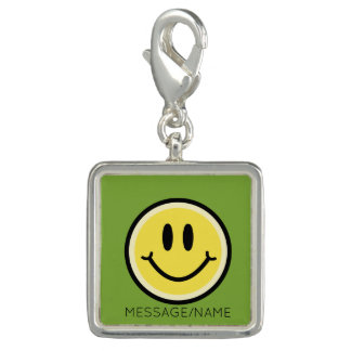 Yellow Smile Photo Charm