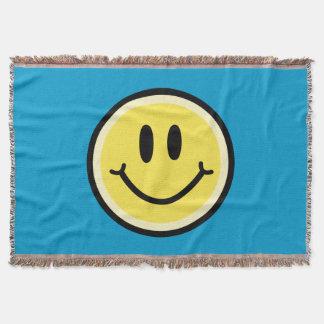 Yellow Smile Throw Blanket