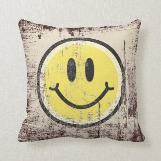 Yellow Smile Throw Pillow
