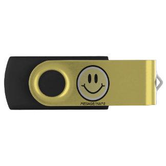 Yellow Smile USB Flash Drive