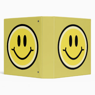Yellow Smile Vinyl Binders