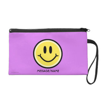 Yellow Smile Wristlet
