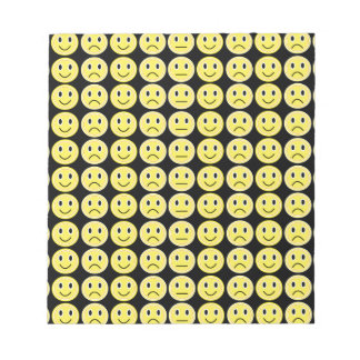 Yellow smiles notepad