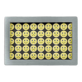 Yellow smiles rectangular belt buckles