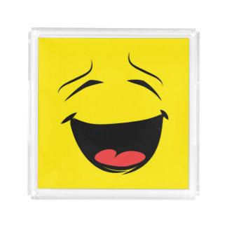 YELLOW SMILEY ACRYLIC TRAY