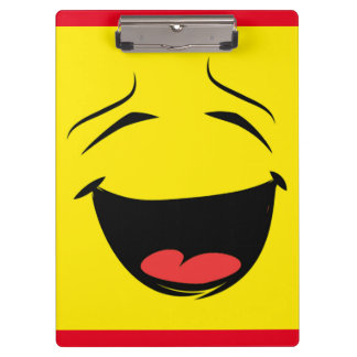 YELLOW SMILEY CLIPBOARD
