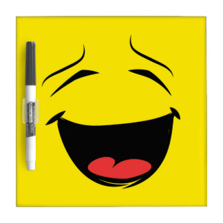 YELLOW SMILEY DRY ERASE BOARD