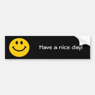 Yellow Smiley Face Bumper Sticker