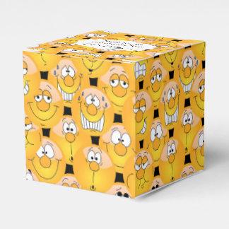 Yellow Smiley Face Emoji Design Favor Box