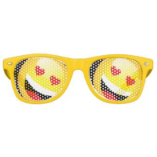 Yellow Smiley Face Emojo Party Emoticon Rave Retro Sunglasses
