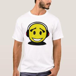 Yellow smiley face wearing headphones T-Shirt