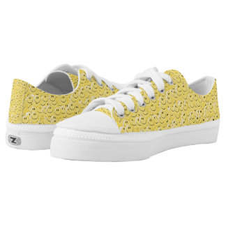 Yellow Smiley Face Zipz Low Top