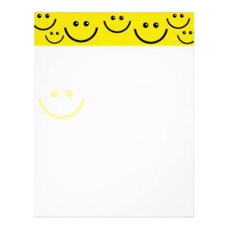 Yellow Smiley Faces Letterhead